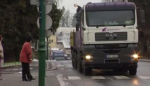 Kamiony ve městě