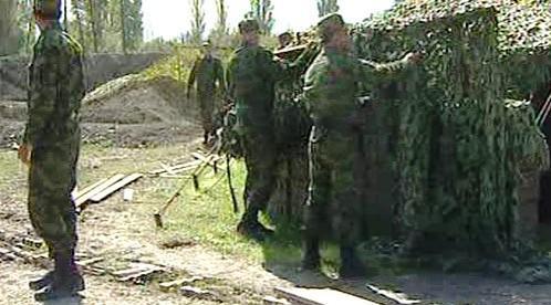 Vojáci na hranici Jižní Osetie