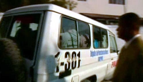 Odjezd propuštěných amerických misionářů z Haiti
