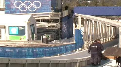 Policejní hlídka v dějiště olympiády