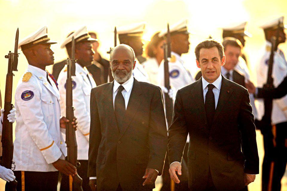 René Préval a Nicolas Sarkozy