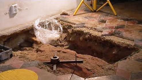 Archeologické práce v kostele sv. Haštala