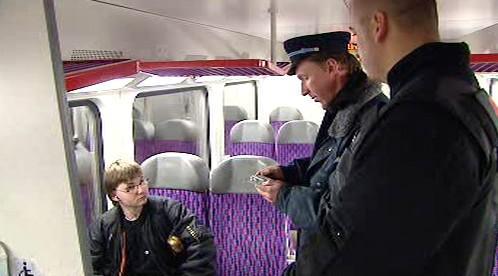 Průvodčí ve vlaku