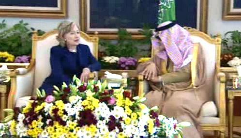 Hillary Clintonová a Saúd Fajsal ibn Abdal Azíz