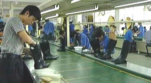 Výroba bot v Číně