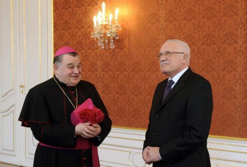 Dominik Duka a Václav Klaus