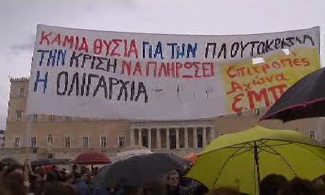 Řekové stávkují