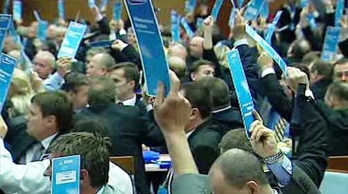 Hlasování na kongresu ODS