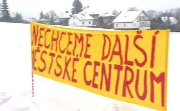 Demonstrace v Černošicích