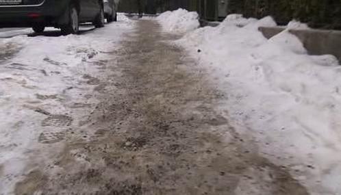 Zasněžený chodník