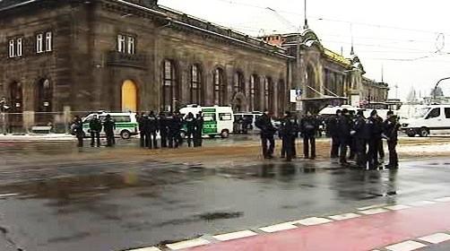 Policie v Drážďanech