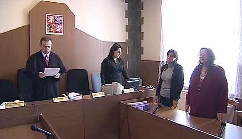 Libuše Bryndová u soudu