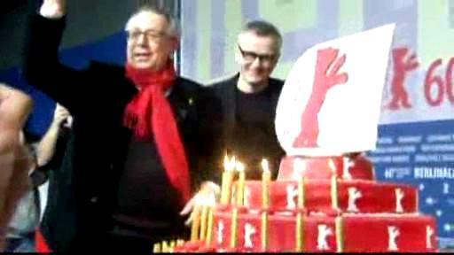 Berlinale - ředitel festivalu a narozeninový dort