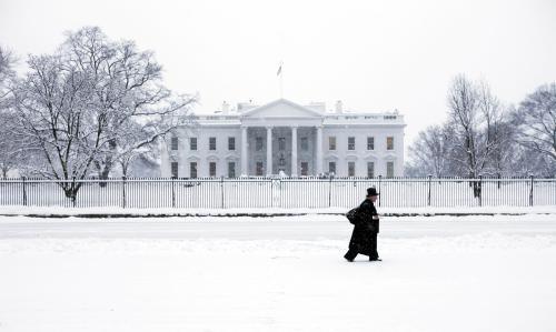 Bílý dům pod sněhem