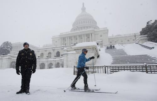 Washington pod sněhem