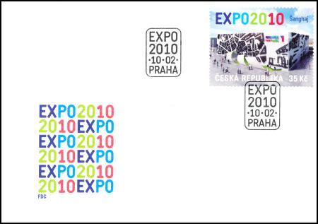 Expo 2010 - obálka a razítko