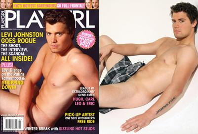 Levi Johnston na obálce časopisu Playgirl