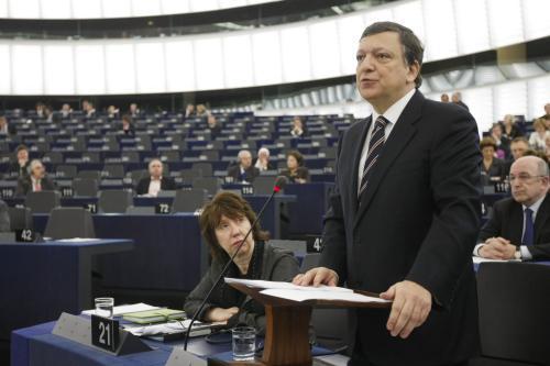 José Barroso před europoslanci