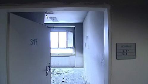 Vyhořelý nemocniční pokoj