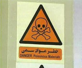 Varování před jedovatými látkami