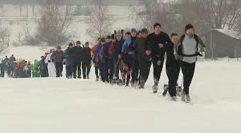 Účastníci závodu Zlatý nuget na trati