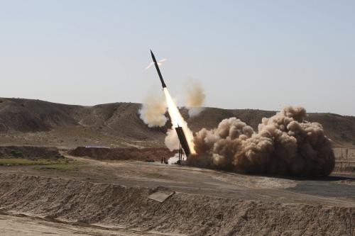 Test íránské rakety Zelzal