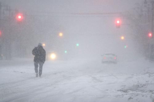 Sněhová vánice ve Filadelfii