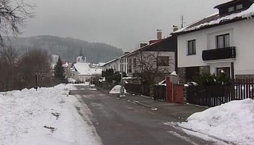Zdánlivě bezpečná ulice ve Vimperku