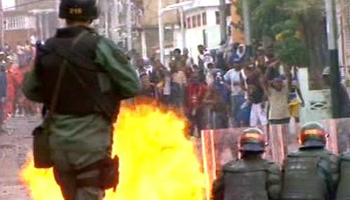Protivládní demonstrace ve Venezuele