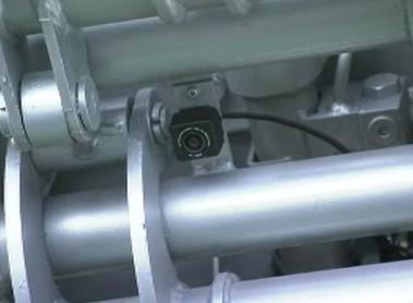 Kamera umístěná na rameni robota
