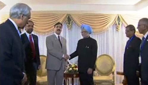 Júsuf Ráza Gílání a Manmóhan Singh
