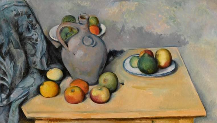 Paul Cézanne / Pichet et fruits sur une table