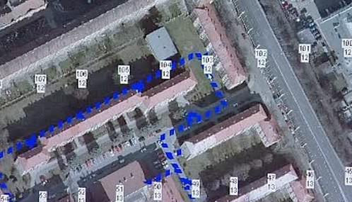 Letecký snímek čtvrti v Hradci Králové