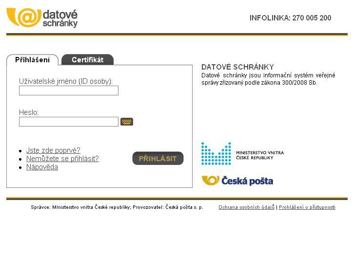 www.mojedatovaschranka.cz