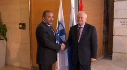 Avigdor Lieberman a Miguel Angel Moratinos