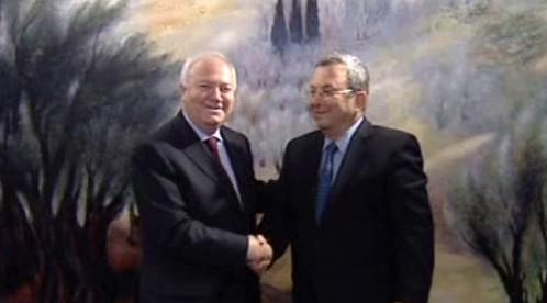 Miguel Angel Moratinos a Ehud Barak