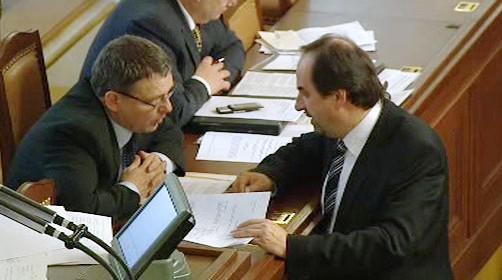 Lubomír Zaorálek a Jan Kohout