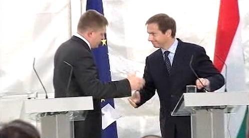 Robert Fico a Gordon Bajnai