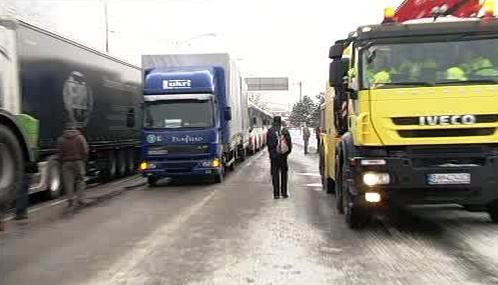 Kamiony blokují bratislavské ulice