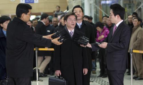 Jihokorejský vyslanec před odjezdem do KLDR