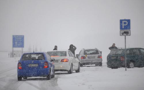 Uzavřená dálnice v severním Německu
