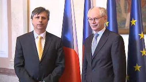 Jan Fischer a Herman Van Rompuy