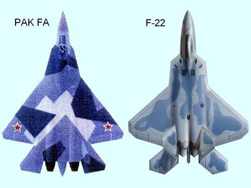 Srovnání ruské stíhačky PAK FA  a amerického letounu F-22