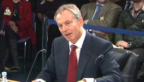 Tony Blair před vyšetřovací komisí
