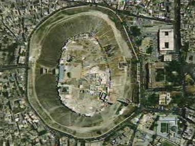 Družicový snímek kráteru