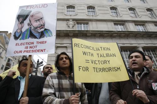 Demonstrace proti konferenci o Afghánistánu