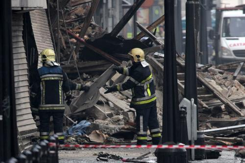 Odklízení trosek v Belgii