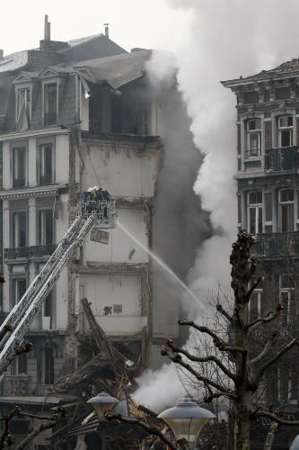 Zřícený dům v Belgii