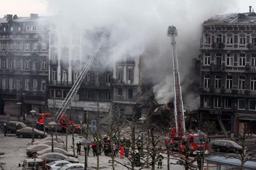 Exploze domu v Belgii