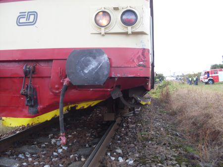 Vlak po nehodě